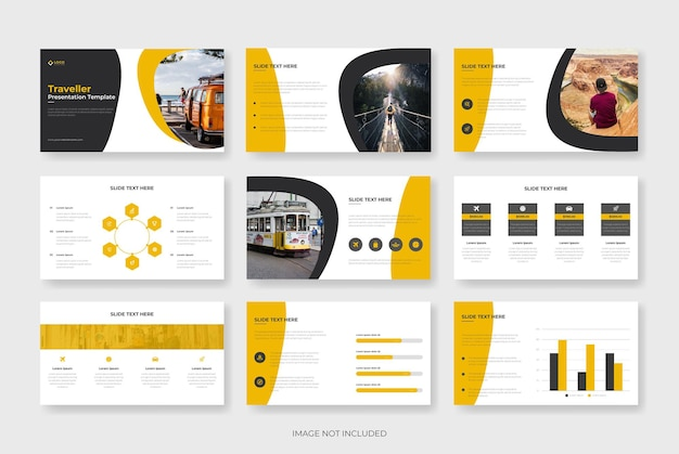 Travel powerpoint presentation template or travel agency profile template