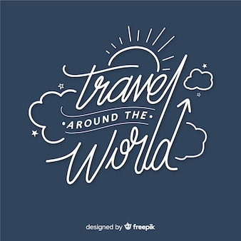 Travel quote lettering