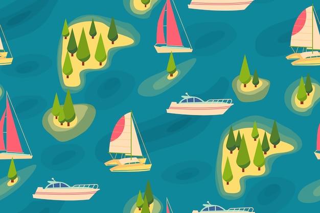 Travel retro seamless pattern