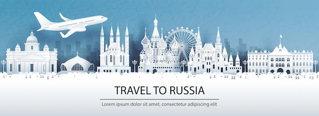 Travel to russia with famous landmark.
