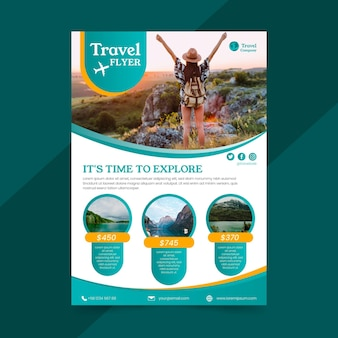 Travel sale flyer concept