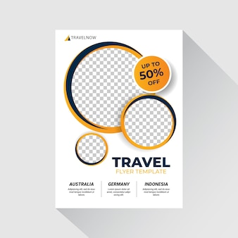 Travel sale flyer illustration