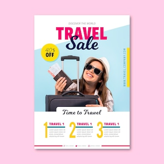 Travel sale flyer with image