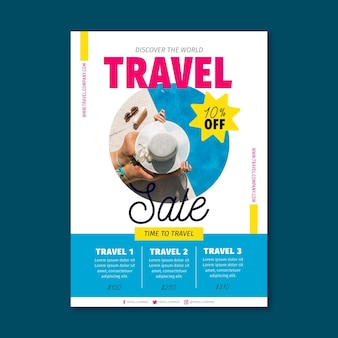 Volantino di vendita di viaggio con foto