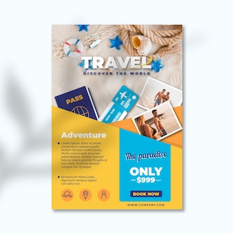 Travel sale flyer with picture