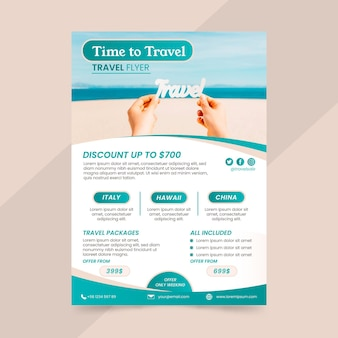 Travel sale flyer