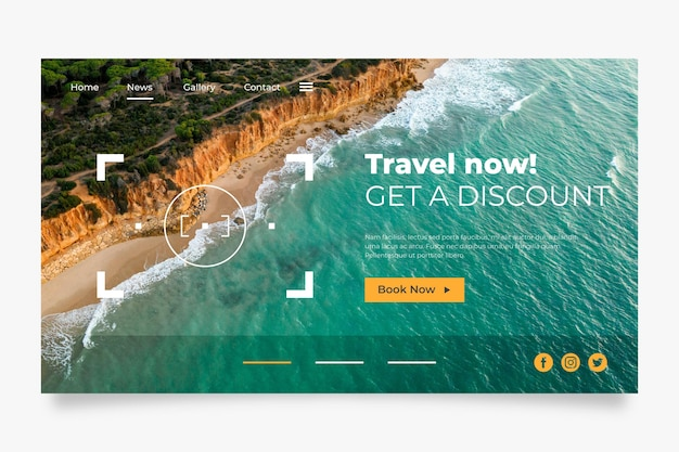 Travel sale home page template