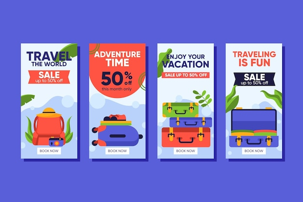 Travel sale instagram stories collection