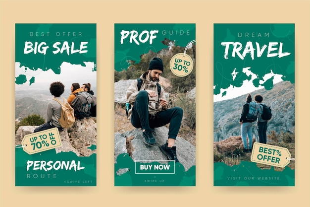 Travel sale instagram stories template