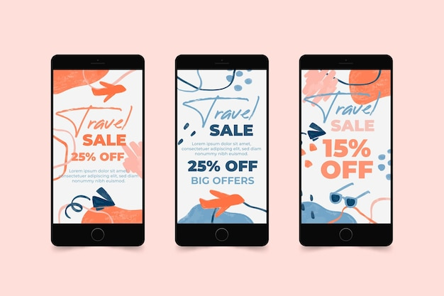 Travel sale instagram stories