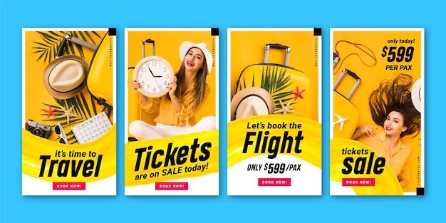 Storie di instagram di vendita di viaggi