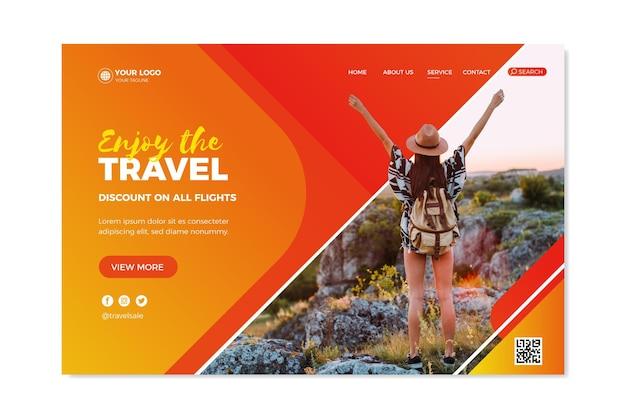 Travel sale landing page concept