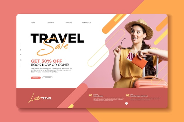 Travel sale landing page concept