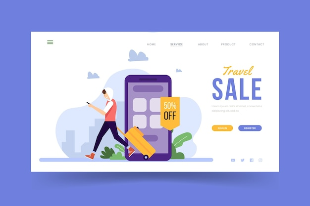 Travel sale - landing page concept