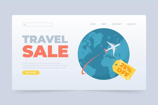 Modello di pagina di destinazione di vendita di viaggio