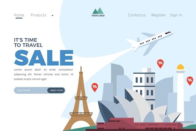 Шаблон целевой страницы продажи путешествий