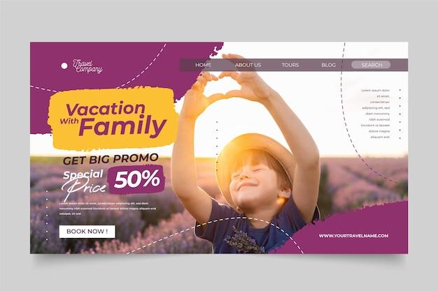 Modello di pagina di destinazione per la vendita di viaggi