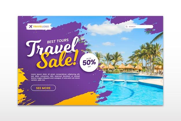 Целевая страница продажи путешествий с фотографией
