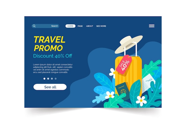 Travel sale landing page