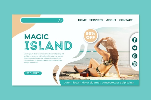 Travel sale landing page