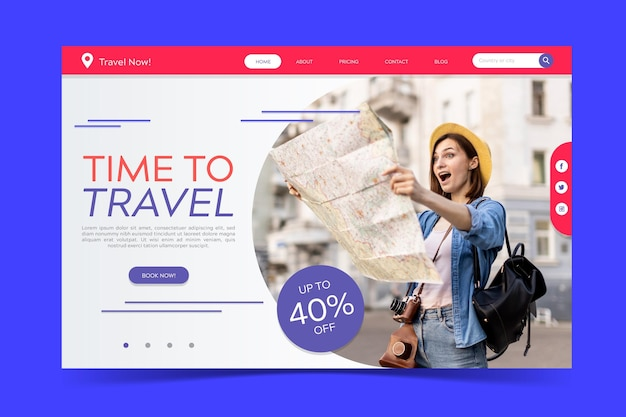 Целевая страница распродажи путешествий
