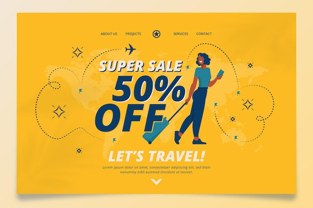 Travel sale - landing page