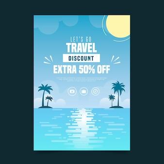 Туристическая распродажа иллюстрированный флаер