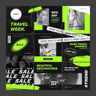 Travel sale puzzle feed set