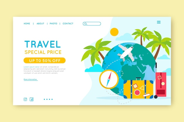 Travel sale web page template