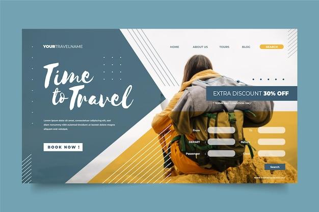Vendita di viaggi con pagina di destinazione fotografica