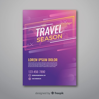 Travel season flyer