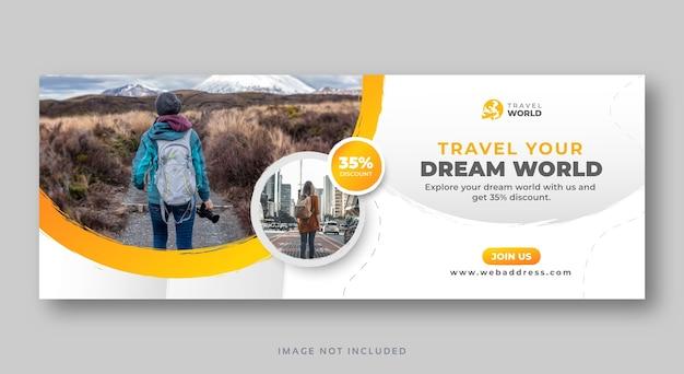 Travel social media cover web banner template