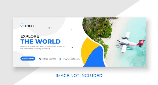Travel social media cover and web banner template