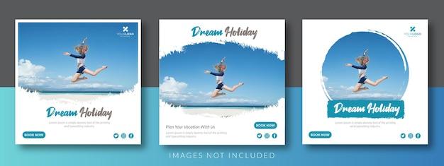 旅行ソーシャルメディアフィード広告