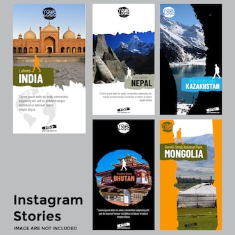 Travel social media stories template