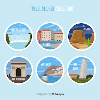Travel sticker collection