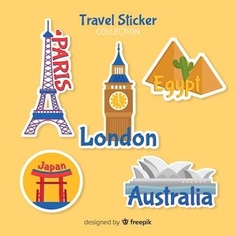 여행 스티커 컬렉션