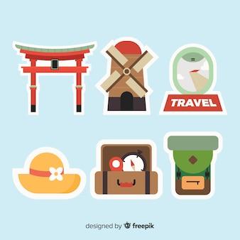 Travel sticker collection