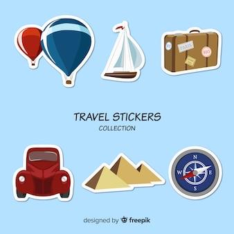 여행 스티커 팩