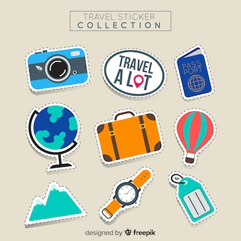 Travel sticker set