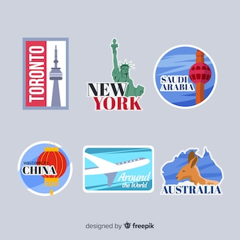 Travel stickers collection