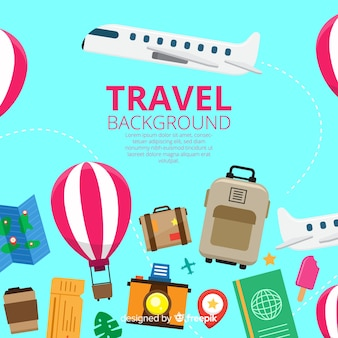 Travel stuff background