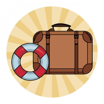 Travel suitcase and buoy