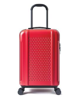 白で隔離の旅行スーツケース