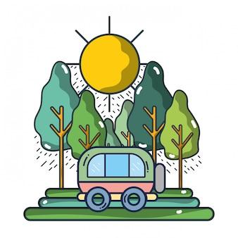 Travel and summer cartoons