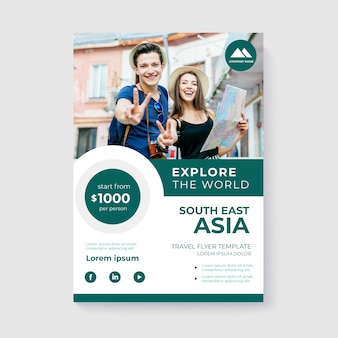Travel template poster with photo
