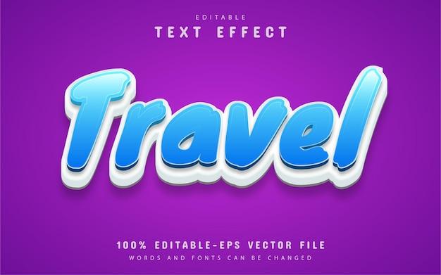 Travel text, cartoon style text effect