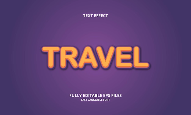 Travel text effect