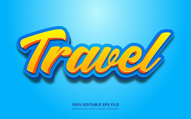 Travel text style effect