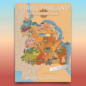 Travel thailand north eastポスター